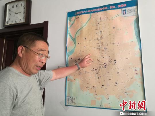 呼和浩特六旬地图手绘归化城城市老人为旧景台湾室内设计师朱志康图片