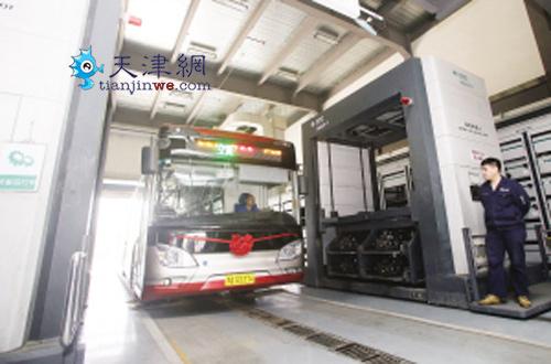 天津今年再添600部纯电动公交车 不怕没地儿充电高清图片
