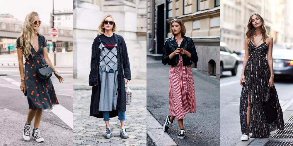 運動鞋,風格,説明,連衣裙,時尚