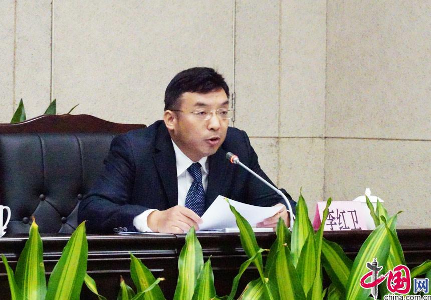 广州市政府副秘书长李红卫介绍本届中国森林旅