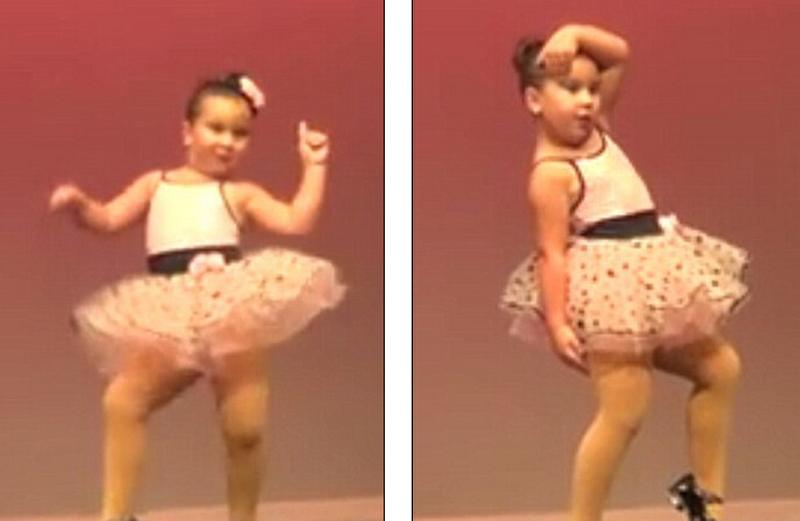 6岁女孩大秀踢踏舞技 爆萌视频吸引百万点击