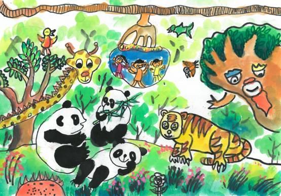 参观野生动物园_四川都江堰顶新新建小学三年级_多吉