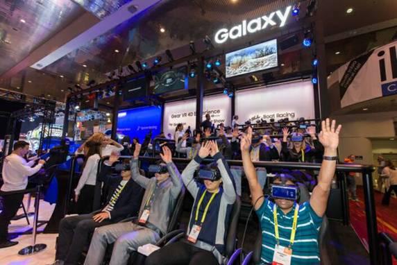 MWC 2017展會上的三星VR體驗區
