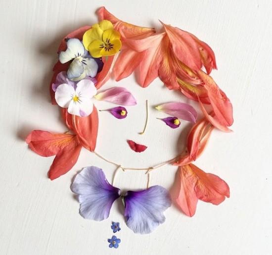 花瓣拼贴画