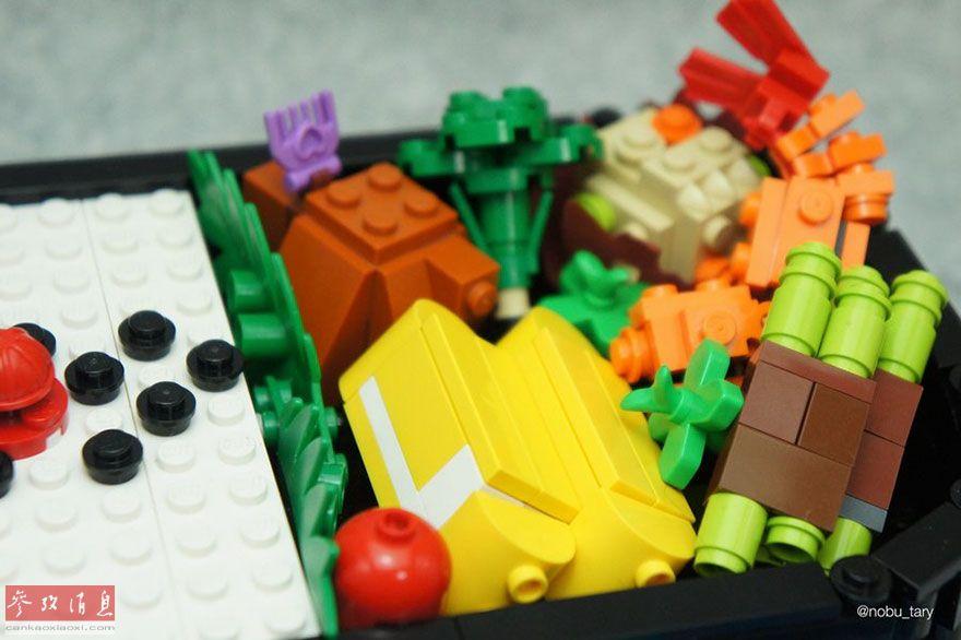 打造!日本联盟用乐高眼馋逼真美食_美食海口石山中国玩家图片