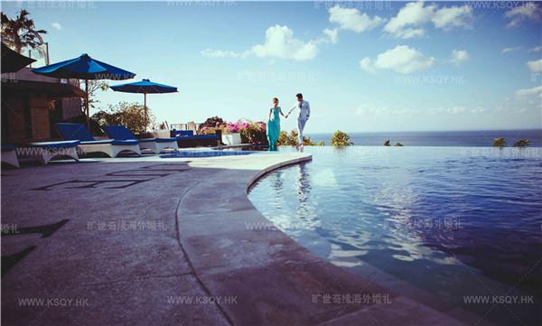婚礼巴厘岛婚纱摄影大片欣赏—无边泳池