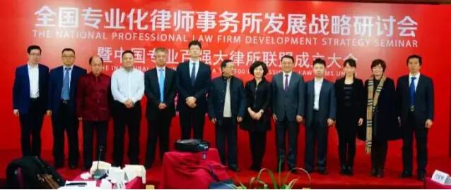 中国专业百强大律所联盟成立,律界权威汇聚共襄盛举3