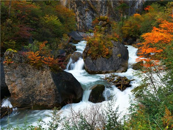 黄龙风景区,除拥有令人惊叹的自然美景以外,作为茶马古道上重要的