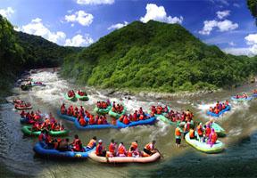 漂流,景区,红河,游客,旅游