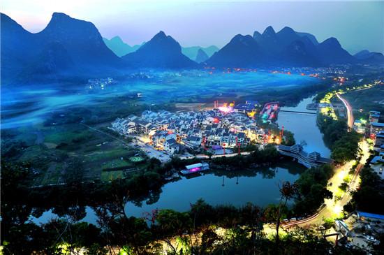 广西风景矢量图